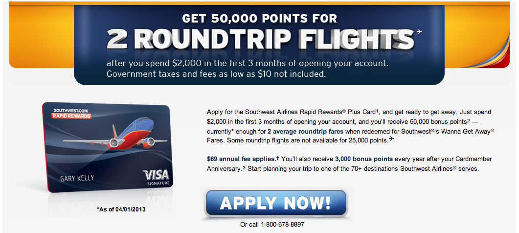 The Official Southwest Rapid Rewards Card Offer is Back up to 50,000 ...