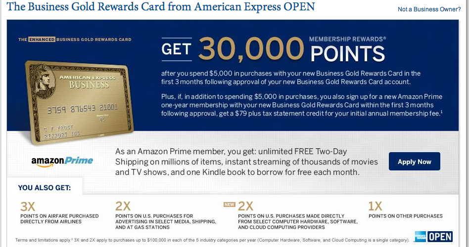609ee28bb8ac AMEX Business Gold Rewards Offers 30