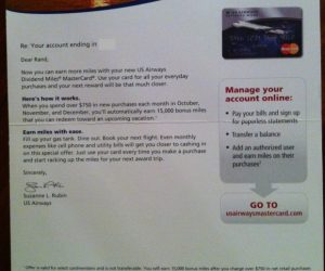 15,000 Bonus US Airways Miles Promo for Spending $750 per Month for 3 Months