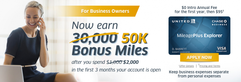 Increased 50000 mile sign up bonus on the united mileageplus increased 50000 mile sign up bonus on chase united mileageplus explorer business card colourmoves