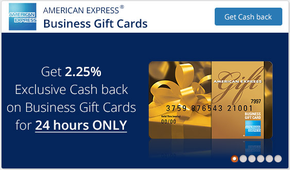 topcashback offering 225 on amex business gift cards today only - American Express Business Gift Card