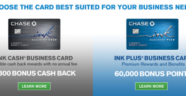 60,000 Ink Plus & 30,000 Ink Cash Sign-up Bonuses