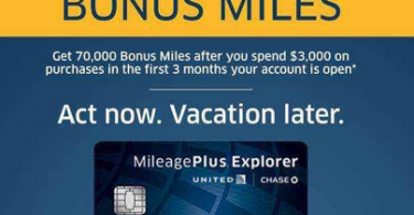 70,000 Mile Sign-up Bonus on United Explorer Card is Live-01