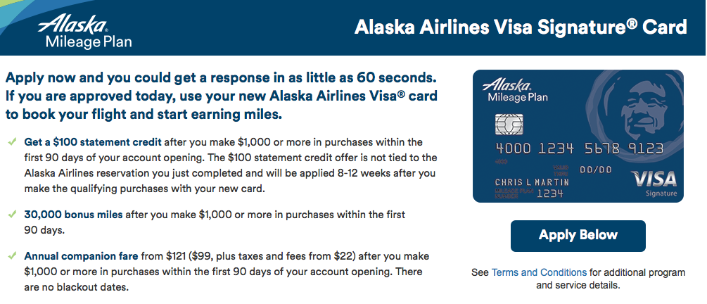 30,000 Miles + $100 Sign-up Bonus Offer on the Alaska Airlines Visa-02