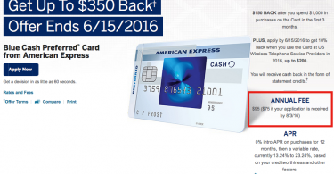Annual Fee Increasing to $95 on AMEX Blue Cash Preferred Card-01