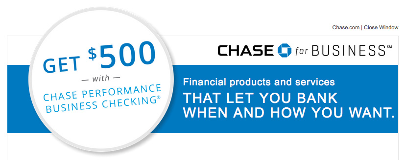 Chase Business Checking $500 Bonus Live Again
