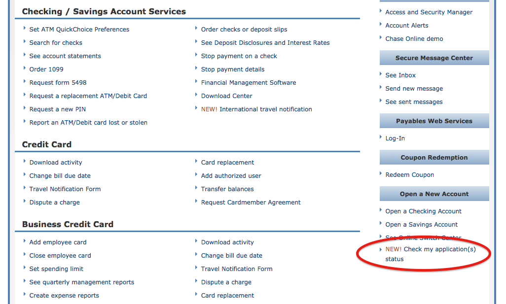 chase bank application for checking account