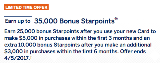 35000 points sign up bonus on spg amex cards personal business spg business credit card american express 35000 03 colourmoves