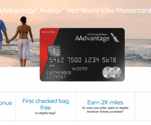 50000 Mile Signup Bonus AAdvantage Aviator Red World Elite MasterCard