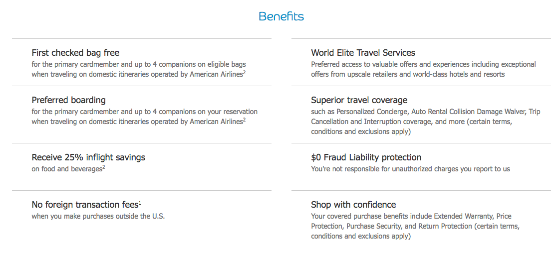 AAdvantage Aviator Red World Elite MasterCard Benefits