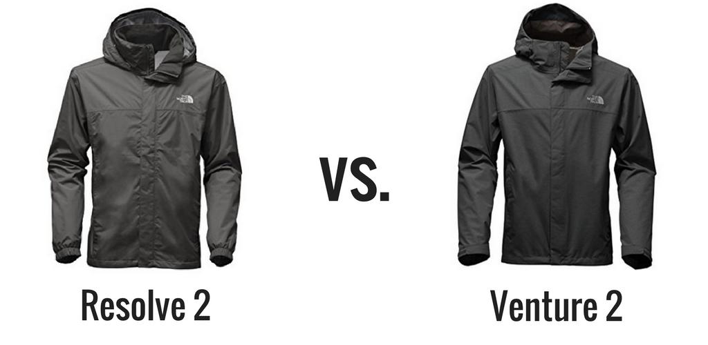 The North Face Resolve vs Venture Rain Jacket Comparison 323e0e3b5