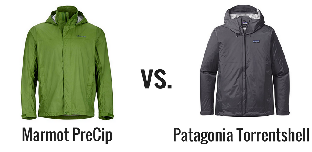 Patagonia Torrentshell vs Marmot PreCip comparison