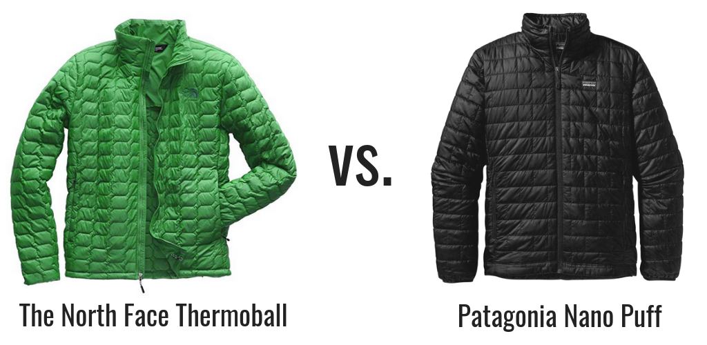 Patagonia Nano Puff vs North Face Thermoball Jacket Comparison