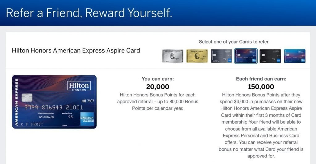 Amex Refer-a-Friend for Hilton Honors Credit Cards