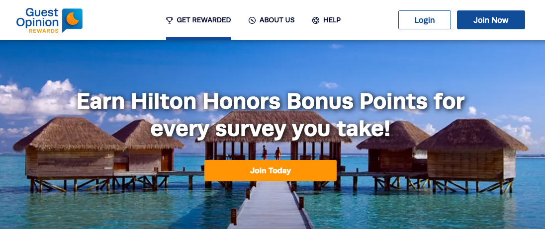 Take Surveys on Guest Opinion and eRewards to earn Hilton points