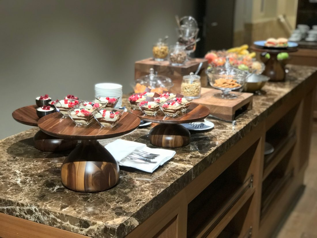 Parisi Udvar Club Lounge Desserts and Lunch Snacks