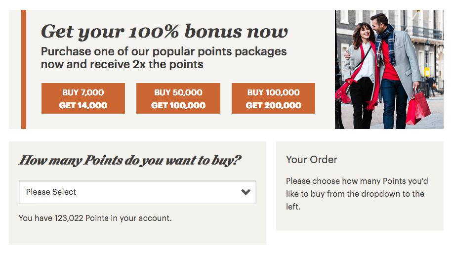 how to buy ihg points