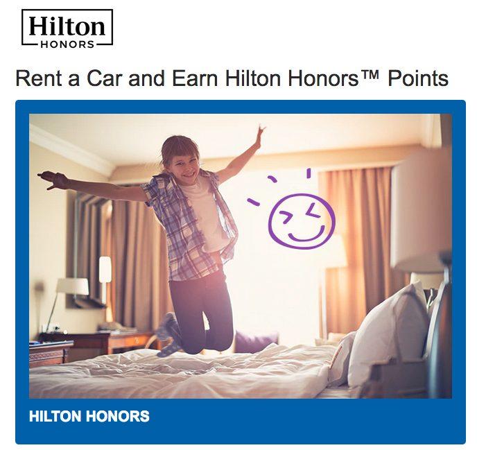 rental car to extend hilton points expiration