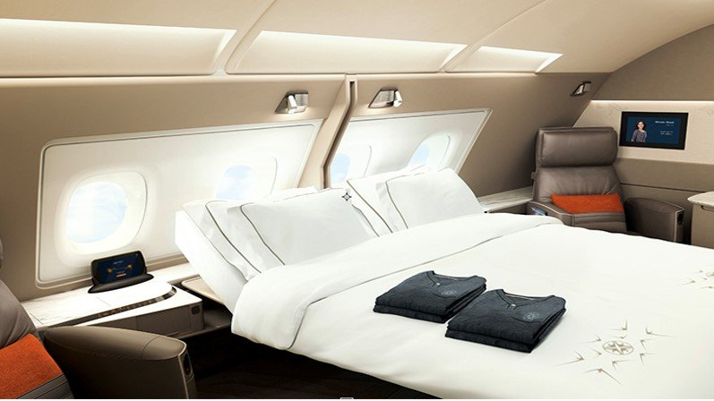 Singapore Airlines' famous first class and business class