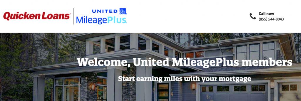 quicken loans united miles bonus