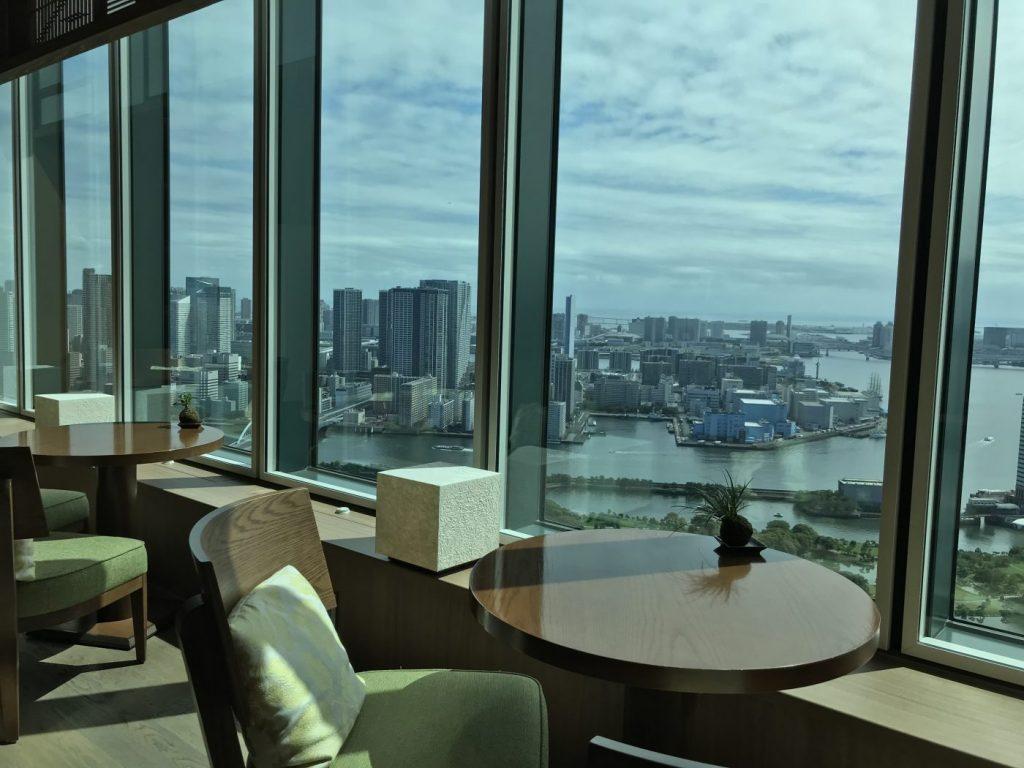 hilton conrad tokyo lounge view