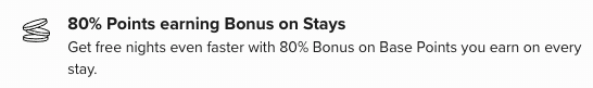 hilton honors gold status bonus points perk
