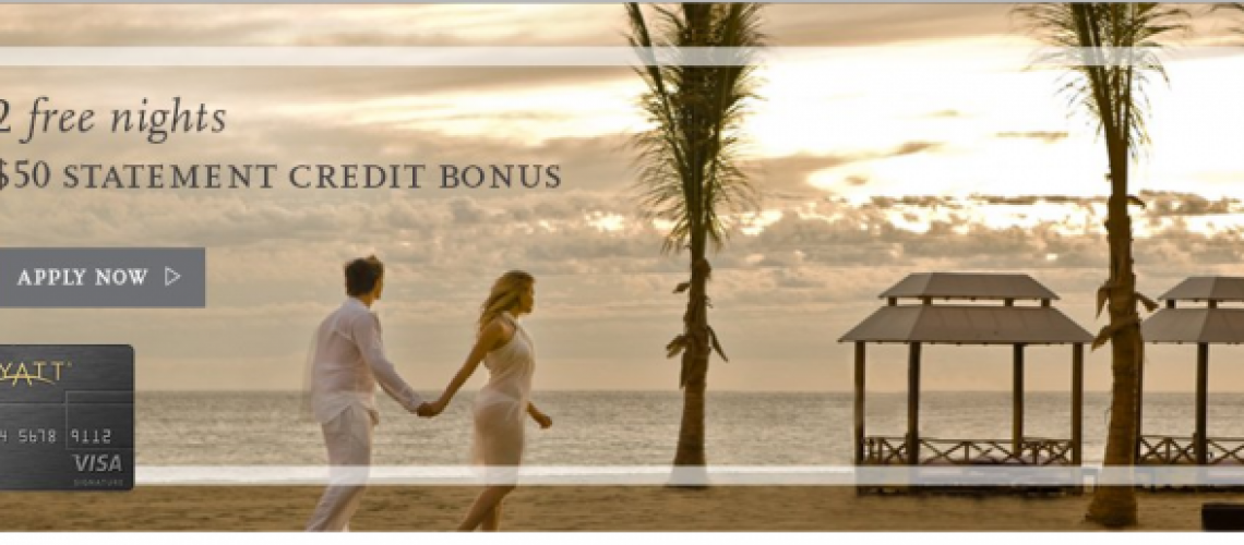 Get Two Free Nights 50 Statement Credit With The Hyatt Credit Card_01