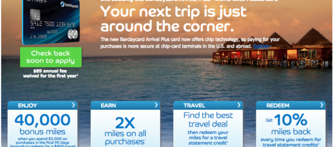 Big Changes to Barclays Arrival Plus MasterCard