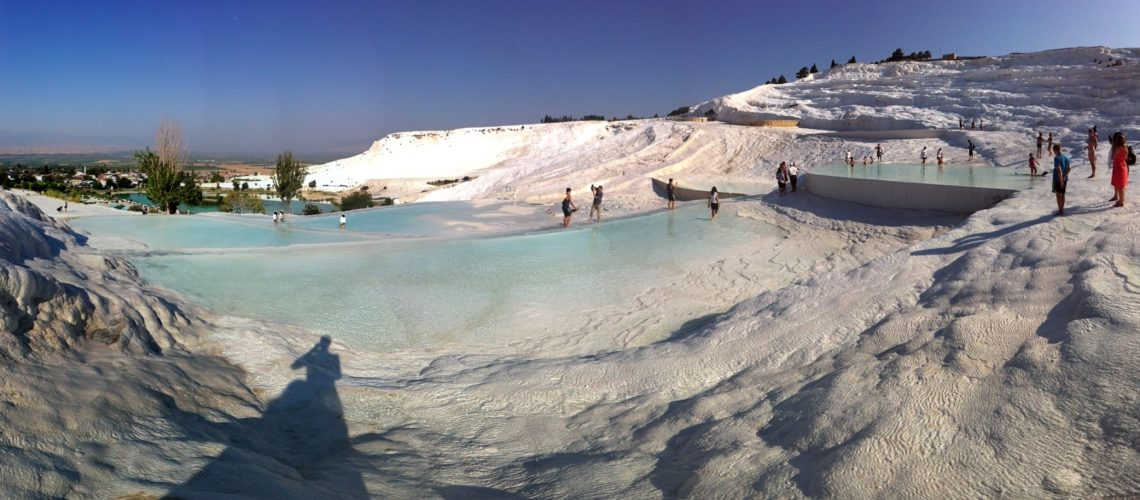 Soaking in the baths of Pammukale